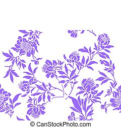 Lilac simless - seamless white background with randomly...