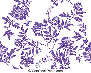 Lilac simless - seamless white background with randomly ...