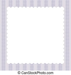 lilac vintage card with frame