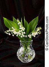 lilies of the valley in flowerpot