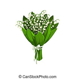 Lilies of the valley or may-lily flowers