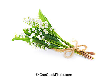 Lilies of the valley - Bouquet of white flowers lilies of...