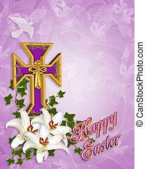 liliomok, húsvét, kereszt