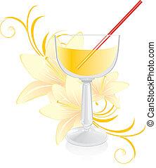 liliomok, koktél pohár