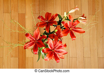 Lilium Flower - A Bouquet of blooming Lilium Flowers.