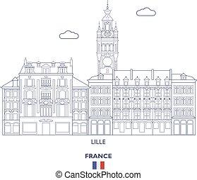 Lille City Skyline, France