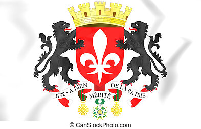 Lille coat of arms, France. 3D Illustration.
