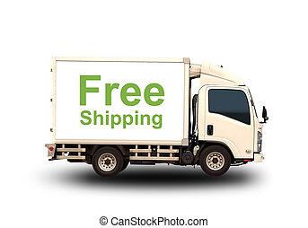 lille, lastbil, fri, forsendelse