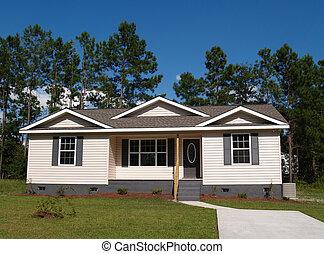 lille, lavtliggende, indtægt, beboelses, hjem