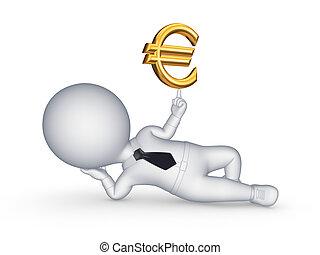lille, person, euro., 3, tegn
