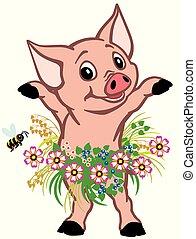 lille pige, gris