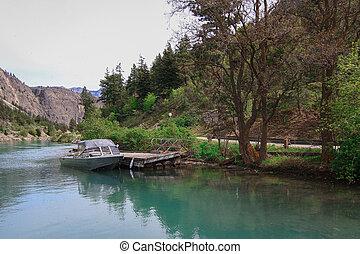 lillooet lake on the foot of mountain