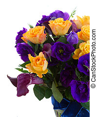 lilly, 花, calla, eustoma