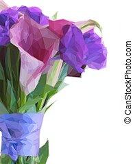 lilly, flores, calla, eustoma