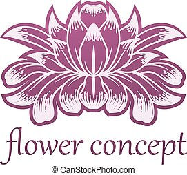 Lilly Flower Floral Design Concept Icon