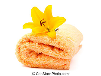 lily and towel