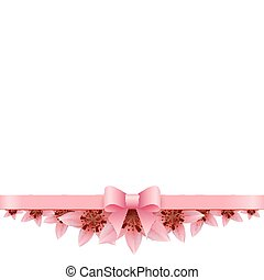 Lily Banner on a white background with pink bow