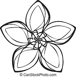 Lily exotic flower icon, simple style