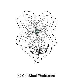 lily flower decoration cut line