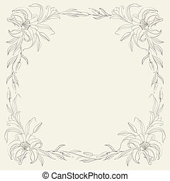 Lily fram? - Lily frame for invitations or announcements....