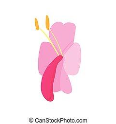 Lily icon, cartoon style