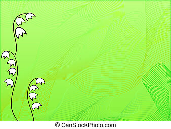 Lily of the valley background - Lovely lily of the valley...
