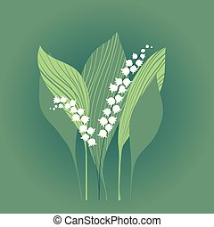 Lily of the valley blooming