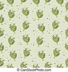 Lily of The Valley Pattern - Lily of the Valley Hand Drawn...