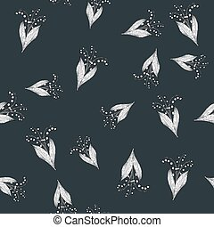 Lily of the valley seamless pattern