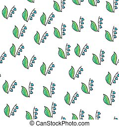 Lily of the valley. Seamless pattern. vector illustration.