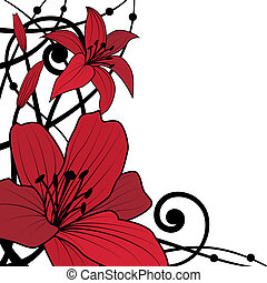 lily red background
