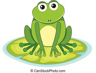 lilypad, grenouille