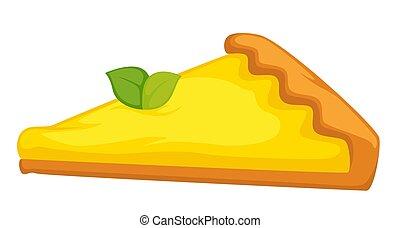 limão, cítrico, bolo queijo, isolado, alimento,...