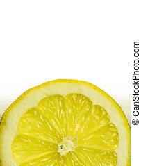 limão, isolado, luminoso, fruta, fundo, backlit, branca