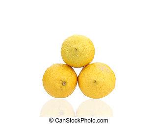 limón, cierre, arriba.