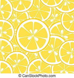 limón, plano de fondo, rebanadas