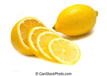 limón, primer plano
