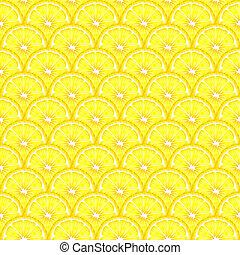 limón, seamless, rebanadas