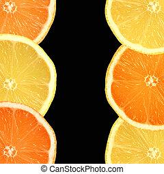 limões, laranjas
