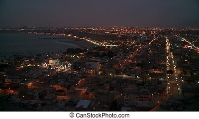 Lima At Night, Peru - panoramic view of Lima (Chorillos),...