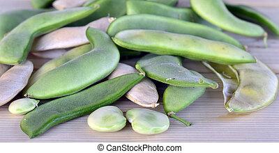 Lima bean pods. - Lima bean pods fresh crunchy green tasty...