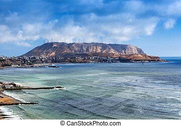 Lima coast on sunny day