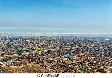 Lima, Peru - panoramic view of Lima city, Peru