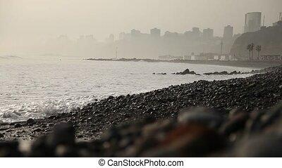 Lima, Skyline and Ocean, peru