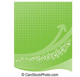 lima verde, fundo, com, halftone
