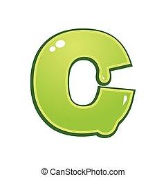 limaccioso, c, font, tipo, lettera