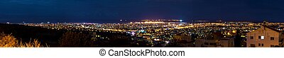 Limassol panorama - A panoramic aerial night view of the ...