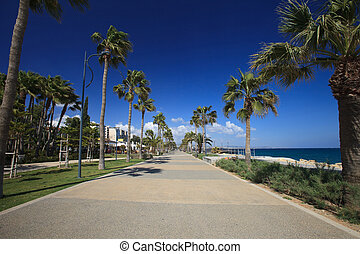 Limassol's seafront promenade. Cyprus