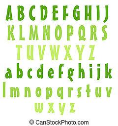Lime Alphabet Letters