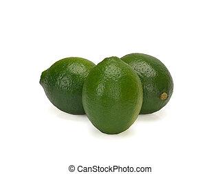 Lime. Fresh fruits isolated on white background.
